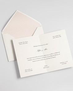 """Cartão Díptico """"Clássico"""""""