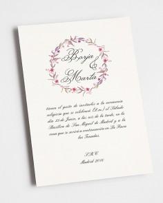 """Convite de casamento """"outono"""""""