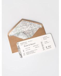 """Convite de casamento """"Mapa"""""""